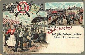 1909 Germany Gruss Vom Schützenfest Leipzig Postcard