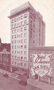 SAN DIEGO, California, 1950-60s; Hotel St. James