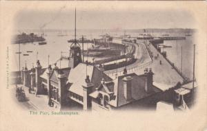 SOUTHAMPTON, Hampshire, England, 1900-1910's; Aerial View Of The Pier