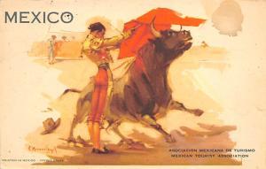 Mexico, Asociacion Mexicana de Turismo Tarjeta Postal Bullfighting Mexican To...
