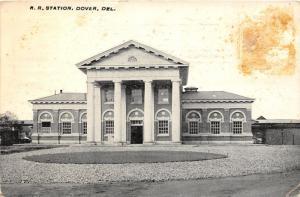F4/ Dover Delaware Postcard c1912 Railroad Station Depot