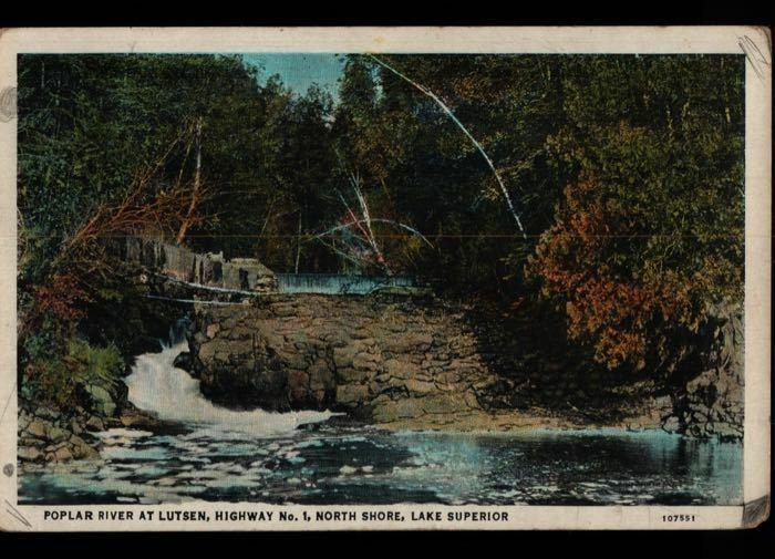 Grand Marais MN El Queeno Cigar Co. Duluth Poplar River Lk Superior Postcard C01