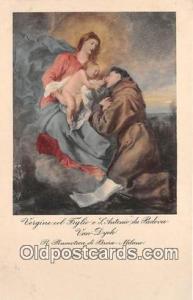 Religion Post card  Vergine Col Figlio