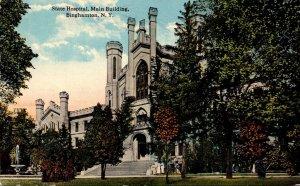 New York Binghamton State Hospital Main Building 1915