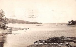 Blue Hill Maine Narrows Waterfront Real Photo Antique Postcard K65949