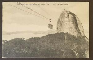 Mint Brazil Rio De Janeiro Sugerloaf Mountain Cable Car Real Picture Postcard