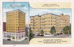 Washington D C New Ebbitt Hotel & Hotel Grafton 1940