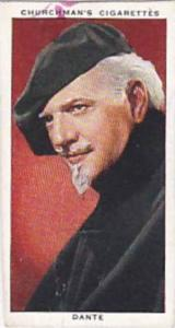 Churchman Vintage Cigarette Card In Town To-Night 1938 No 12 Dante