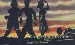 Duty Vs. Beauty Silhouette Unused