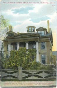 Reverend Edward Everett Hale Residence, Roxbury, Massachusetts, MA, Divided back