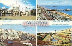 Modern Postcard Brighton Royal Pavilion Kings Road and West Pier Aquarium and...