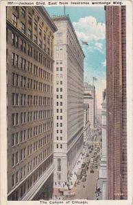 Illinois Chicago Jackson Boulevard East From Insurance Exchange Building The ...
