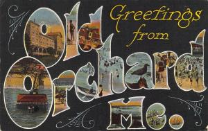 Early Era,Large Letter,Greetings From Old Orchard ME, Message,Old Postcard