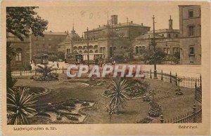 Old Postcard Ludwigshafen Bahnhof