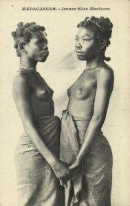 PC CPA ETHNIC NUDE FEMALE MASIKORO TYPE, MADAGASCAR Vintage Postcard (b5403)