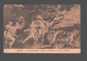 3081146 Nude Angels w/ DIANA & GREYHOUND by RUBENS Vintage PC