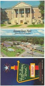 3PCs, Including Colonial Court Hotel, Greenville, South Carolina, 40-60s