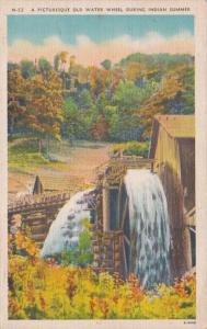 Tennessee Picturesque Old Water Wheel During Indian Summer 1946