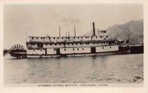 Real Photo Postcard Steamer Tutshi W.P.Y.R. Carcross Yukon Canada~129690