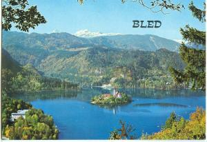 Slovenia, BLED, panoramic view, unused Postcard