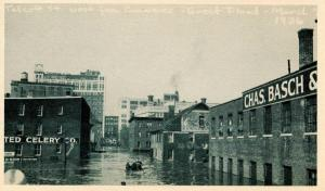 CT - Hartford. March 1936 Flood. Talcott Street West from Commerce