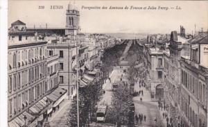 Tunisia Tunis Perspective des Avenues de France et Jules Ferry