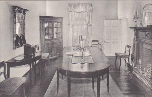 Virginia Charlottesville Dining Room Showing Original Banquet Table Of James ...