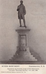 Burns Monument, Fredericton, New Brunswick, Canada, 1906