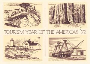 Tourism Year of the America's - 1972 - California to Massachusetts