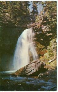 Baring Creek Falls, Glacier National Park, unused Postcard