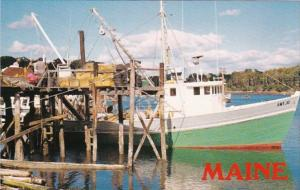 Maine South Bristol Fishong Boat After Day's Catch