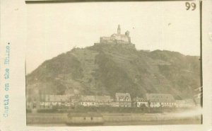 Castle on the Rhine C-1918 Germany RPPC Photo Postcard 20-12851