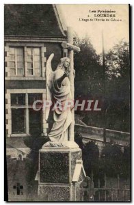 Old Postcard The Pyrenees Lourdes L & # & # 39Ange of 39Entree Calvary