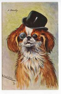 Raphael Tuck Louis Wain Dog A Dandy Postcard