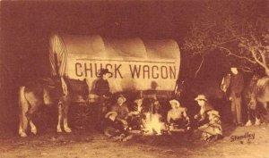 Jaycee Chuck Wagon Dinners Garden of the Gods, CO Stagecoach Vintage Postcard