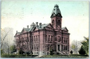 1909 Fort Collins, Colorado Postcard LARIMER COUNTY COURT HOUSE Building View