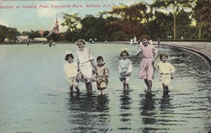 BUFFALO, New York, PU-1910; Section of Wading Pool, Humboldt Park