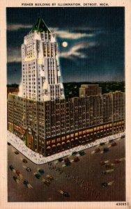 Michigan Detroit Fisher Building By Illumination