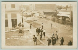Clintonville Wisconsin~Main Street Bridge~High Water Havoc~Flood~July 1912 RPPC