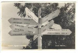 RP: Road Signs , KANO Airport , Nigeria , PU-1950s