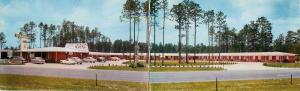 Granger Motel Jacksonville Florida Fl Mandarin old cars panoramic long Postcard