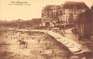 France Cote Emeraude St-Lunaire La Plage beach strand CPA