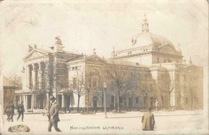 RPPC Nationalteatret Christiana Norway Theater 1908 Norge Stamp Vintage Postcard