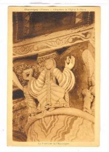 Chauvigny (Vienne), Chapiteau de l'Eglise St. Pierre, La Proetituee de l'Apoc...