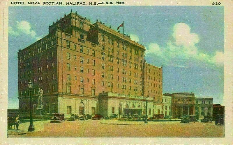 Canada Hotel Nova Scotian Halifax Vintage Cars Postcard