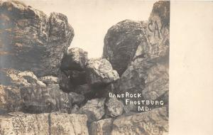 F7/ Frostburg Maryland RPPC Postcard c1920s Dans Rock Geology