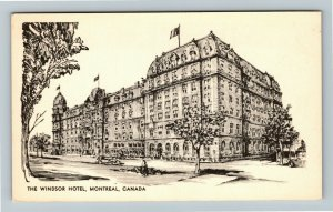 Montreal- Canada, The Windsor Hotel, Advertising, Chrome Postcard