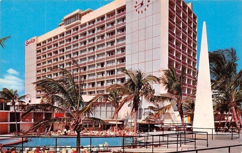 Usa Seville Hotel On The Atlantic Ocean At Miami Beach Florida
