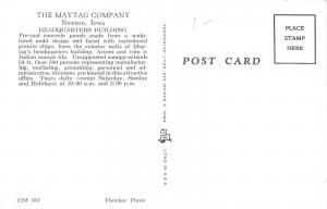 Newton Iowa~Maytag Company Offices~Headquarters Building~Smokestack~1961-62 PC