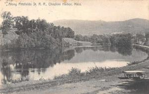 Cheshire Harbor Massachusetts Along Pittsfield St Railroad Postcard JA454773